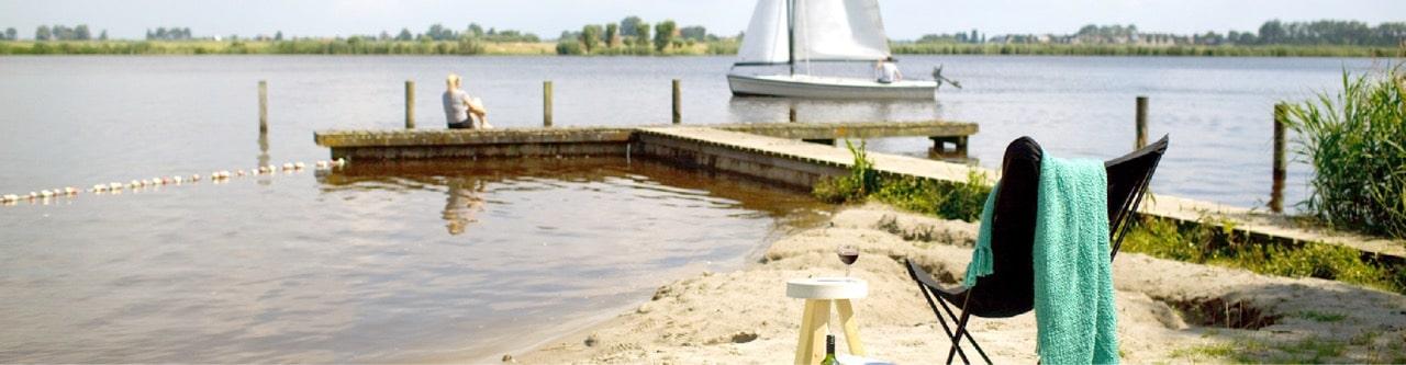 Kamperen Op De Grens Van Land En Water